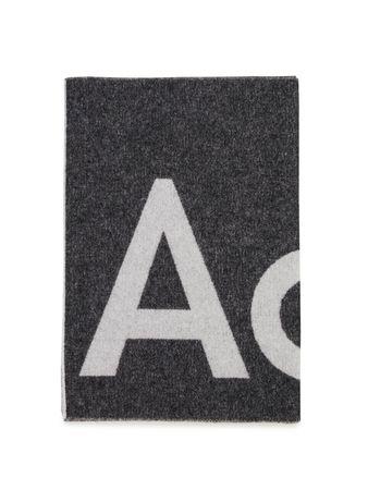 Acne Studios  - Woll-Schal 'Toronty' Schwarz grau