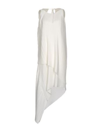 Adam Lippes  34 Damen Elfenbein Knielanges Kleid Polyester grau