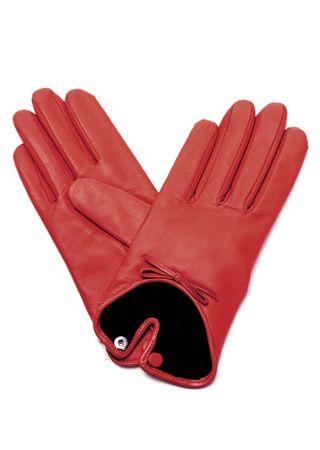 Agnelle Lederhandschuhe in Rot rot