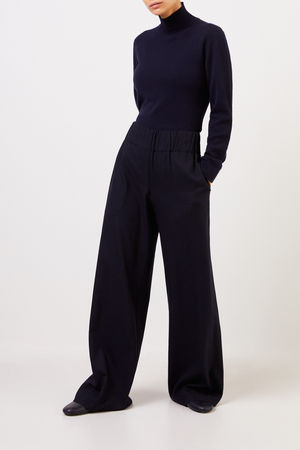 Agnona  - Cashmere-Pullover mit Turtleneck Marineblau 100% Cashmere Made in Italy