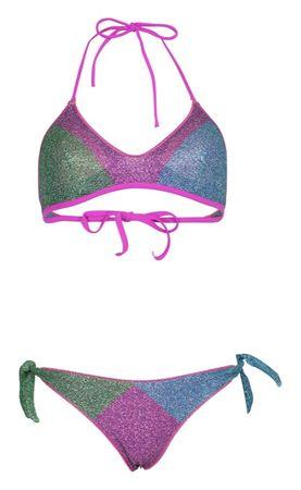 Agogoa Lurex Sporty Padded Bikini Lila