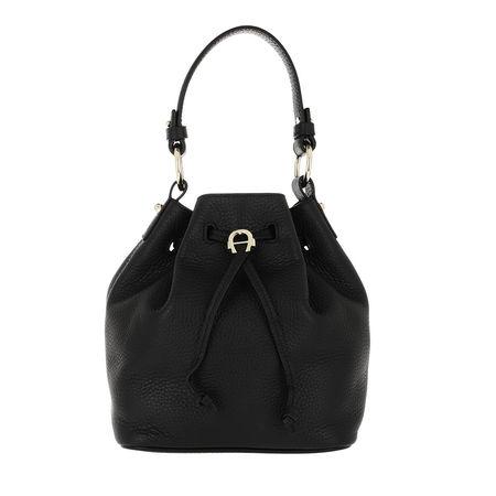 Aigner  Beuteltasche  -  Tara Bucket Bag Black  - in schwarz  -  Beuteltasche für Damen schwarz