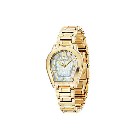 Aigner  Damen Damenuhr Vicenza Gold, in Gold orange