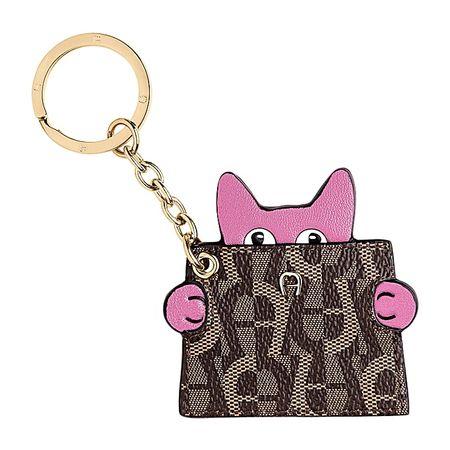 Aigner  Damen Fashion Schlüsselanhänger Katze, Metall in Blossom Pink braun