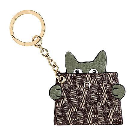 Aigner  Damen Fashion Schlüsselanhänger Katze, Metall in Grün grau