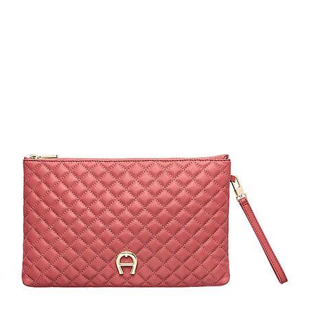 Aigner  Damen Garda Beutel Stepp-Design, Stepp-Design in Rose, Einheitsgröße rot