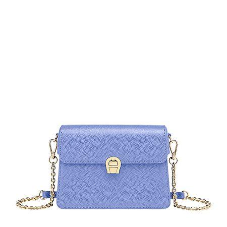 Aigner  Damen Genoveva Abendtasche S Genarbtes, Leder in Bellflower Blue blau