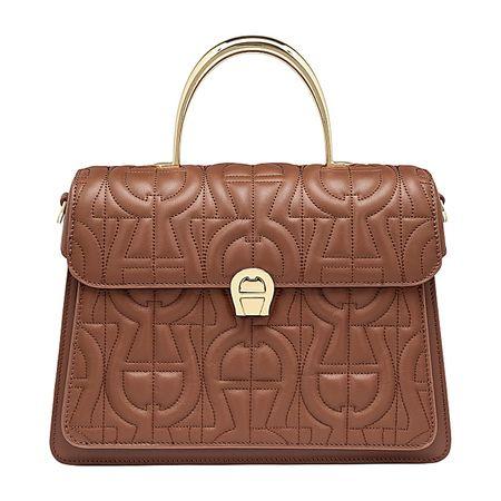 Aigner  Damen Genoveva Handtasche M, Logo in Walnut Brown braun