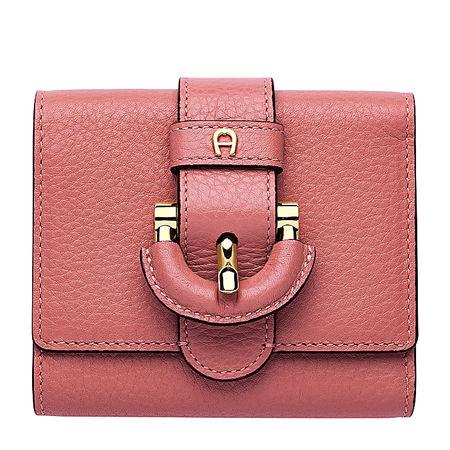 Aigner  Damen Kira Geldbörse, Prägung in Rose rot