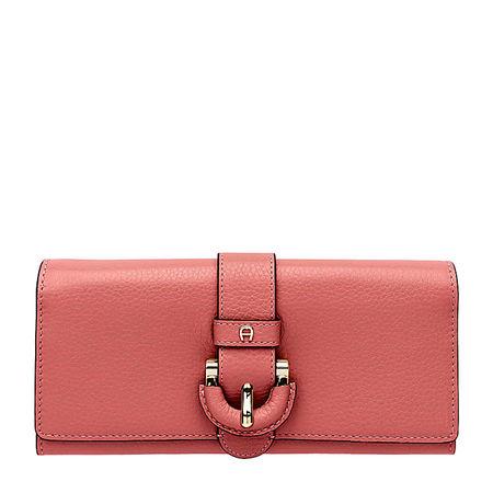 Aigner  Damen Kira Portemonnaie, Prägung in Rose, Einheitsgröße rot
