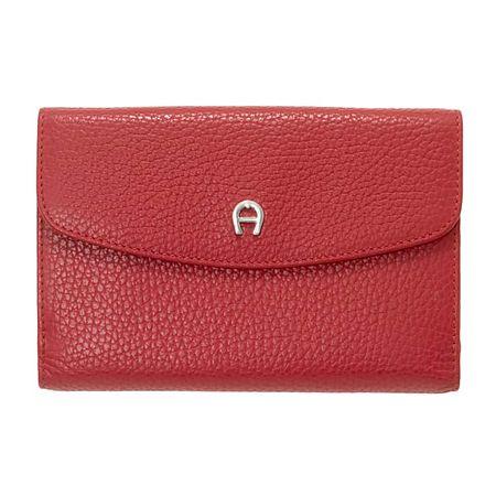 Aigner  Damen Klassische Geldbörse, Prägung in Rot rot