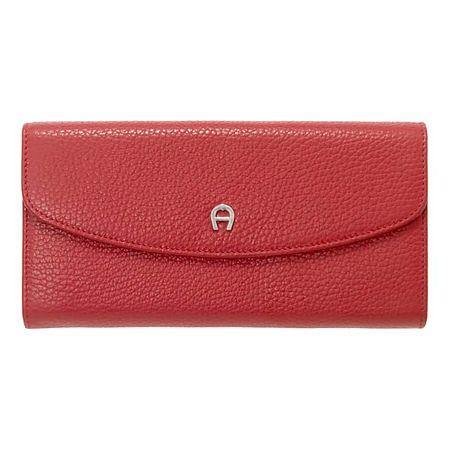 Aigner  Damen Leder Portemonnaie, Prägung in Rot, Einheitsgröße rot