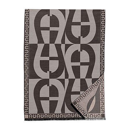 Aigner  Damen Logo Stola M, Baumwollmischung in Clay Grey, Einheitsgröße
