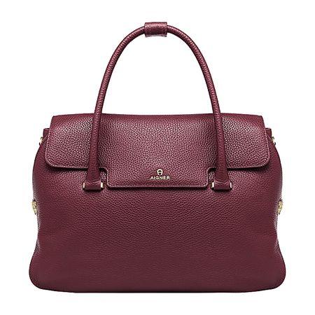 Aigner  Damen Milano Handtasche L, Prägung in Antic braun
