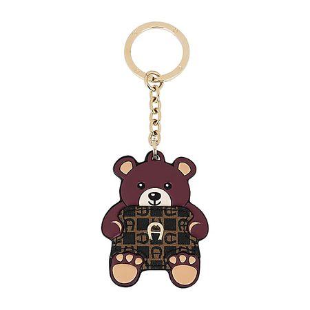 Aigner  Damen Schlüsselanhänger Teddybär Dadino, Logo in Antic