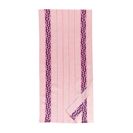 Aigner  Damen Stola M mit Streifen und A-Logo, Leinenmischung in Blossom Pink, Einheitsgröße rot