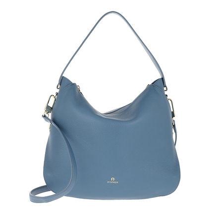 Aigner  Hobo Bag  -  Hobo Bag Milano Dusk Blue  - in blau  -  Hobo Bag für Damen grau