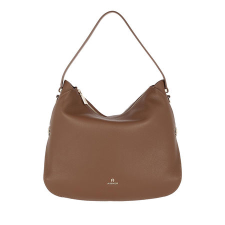 Aigner  Hobo Bag  -  Milano M Hobo Bag Bison Brown  - in braun  -  Hobo Bag für Damen braun