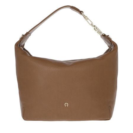 Aigner  Hobo Bag  -  Palermo Hobo Bag Dark Toffee Brown  - in braun  -  Hobo Bag für Damen braun