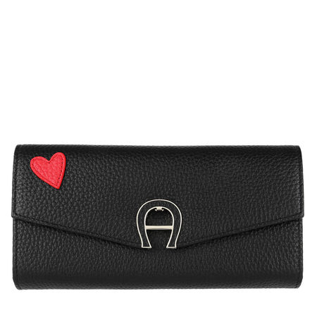 Aigner  Portemonnaie  -  Fashion Wallet Black  - in schwarz  -  Portemonnaie für Damen schwarz
