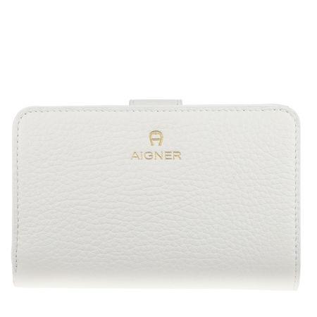 Aigner  Portemonnaie  -  Ivy Cloud White  - in weiß  -  Portemonnaie für Damen braun