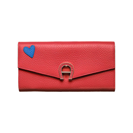 Aigner  Portemonnaie mit Herzsticker rot OG rot