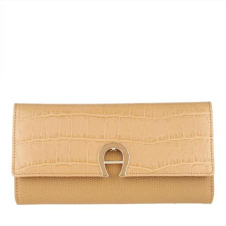 Aigner  Portemonnaie  -  Purse Genoveva Croco Vacchetta Brown  - in beige  -  Portemonnaie für Damen orange