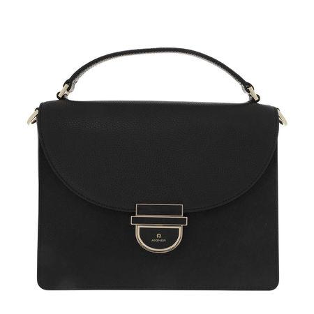 Aigner  Satchel Bag  -  Cosima M Handle Bag Black  - in schwarz  -  Satchel Bag für Damen schwarz