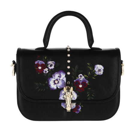 Aigner  Satchel Bag  -  Epona M Handle Bag Black  - in schwarz  -  Satchel Bag für Damen schwarz