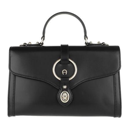 Aigner  Satchel Bag  -  Fiorentina S Crossbody Bag Black  - in schwarz  -  Satchel Bag für Damen grau