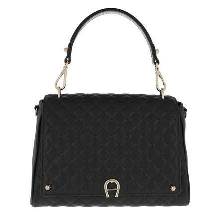 Aigner  Satchel Bag  -  Garda M Crossbody Bag Black  - in schwarz  -  Satchel Bag für Damen schwarz