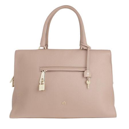 Aigner  Satchel Bag  -  Kaia Nougat  - in rosa  -  Satchel Bag für Damen braun