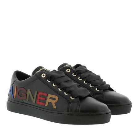 Aigner  Sneakers  -  Diane Flat Derby Sneaker Black  - in schwarz  -  Sneakers für Damen grau
