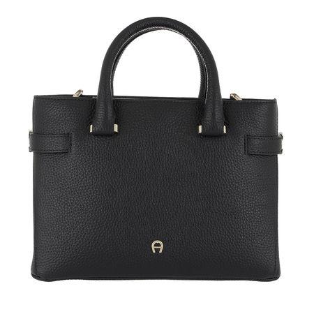 Aigner  Tote  -  Roma S Handle Bag Black  - in schwarz  -  Tote für Damen grau