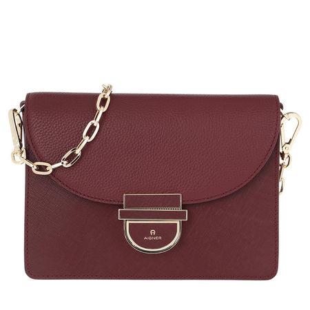 Aigner  Umhängetasche  -  Cosima S Crossbody Bag Burgundy  - in rot  -  Umhängetasche für Damen braun