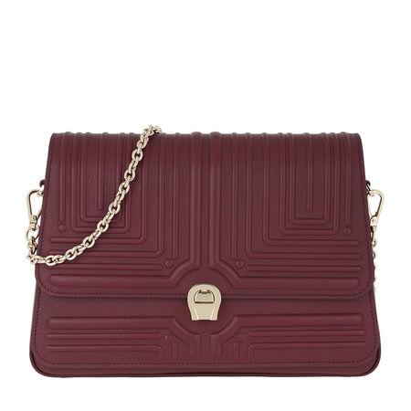 Aigner  Umhängetasche  -  Crossbody Bag Burgundy  - in rot  -  Umhängetasche für Damen braun