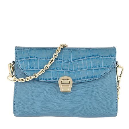 Aigner  Umhängetasche  -  Crossbody Bag Genoveva Croco Dusk Blue  - in blau  -  Umhängetasche für Damen grau