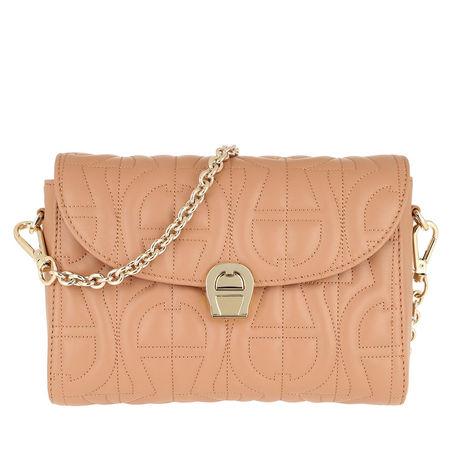 Aigner  Umhängetasche  -  Crossbody Bag Genoveva S Vacchetta Brown  - in beige  -  Umhängetasche für Damen orange