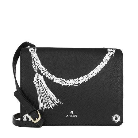 Aigner  Umhängetasche  -  Trompe-loeil Black  - in schwarz  -  Umhängetasche für Damen grau