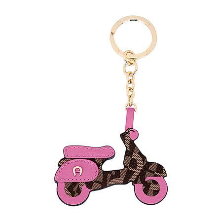 Aigner  Unisex Schlüsselanhänger Motorroller, Materialmix in Blossom Pink rosa