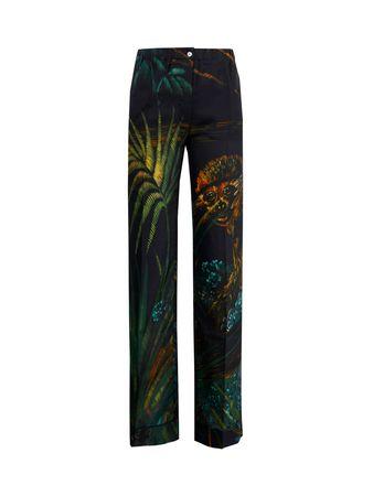 Alanui  - Pyjama-Hose 'Monkey Jungle Pijama' aus Baumwoll-Seiden-Gemisch Multi schwarz