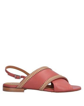 Alberto Fermani  Damen Ziegelrot Sandale Leder rot