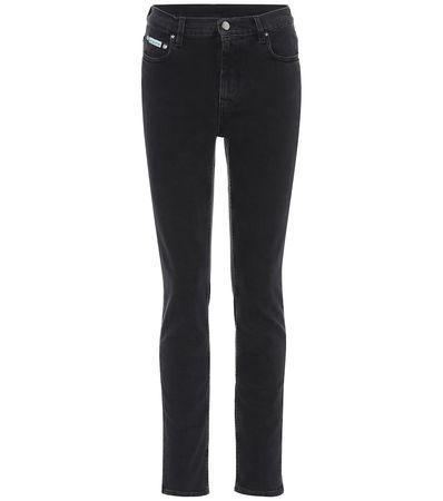Alexa Chung Jeans aus Baumwolle schwarz