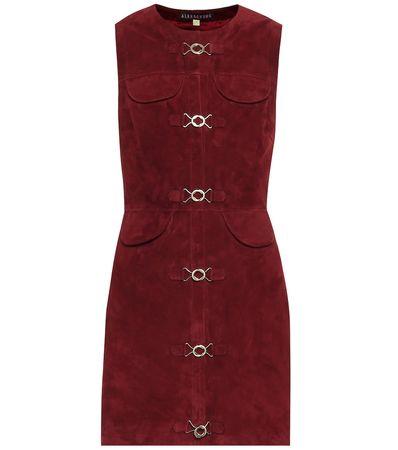 Alexa Chung Minikleid aus Veloursleder braun