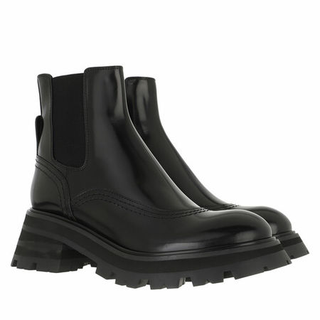 Alexander McQueen  Boots & Stiefeletten - Wander Chelsea Boots Leather - in schwarz - für Damen