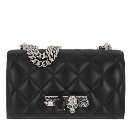 Alexander McQueen  Crossbody Bags - Jewelled Crossbody Bag Quilted Leather - in schwarz - für Damen