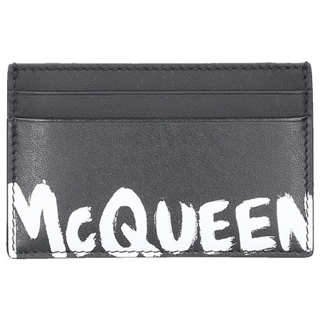 Alexander McQueen Kreditkarten etui MCQUEEN Kalbsleder