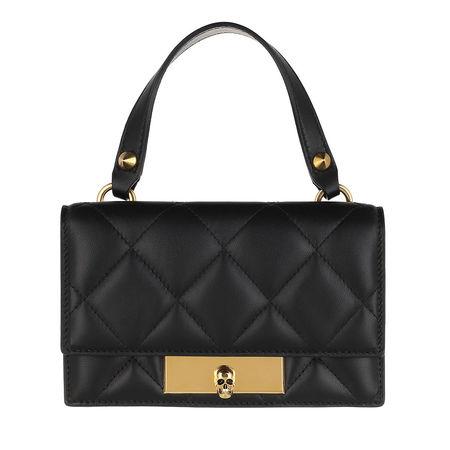 Alexander McQueen  Satchel Bag - Skull Lock Mini Satchel Bag Leather - in schwarz - für Damen schwarz
