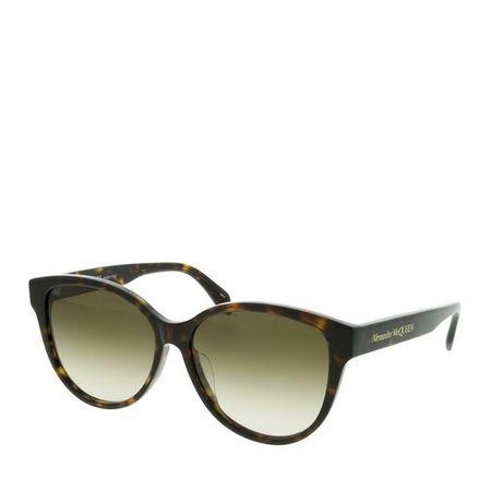Alexander McQueen  Sonnenbrille - AM0303SK-002 57 Sunglass Woman Acetate - in cognac - für Damen