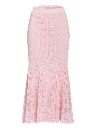 Alexander McQueen  Spitzenrock rosa rosa